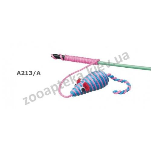 Camon - игрушка для кошек Камон мышь на удочке нейлоновая