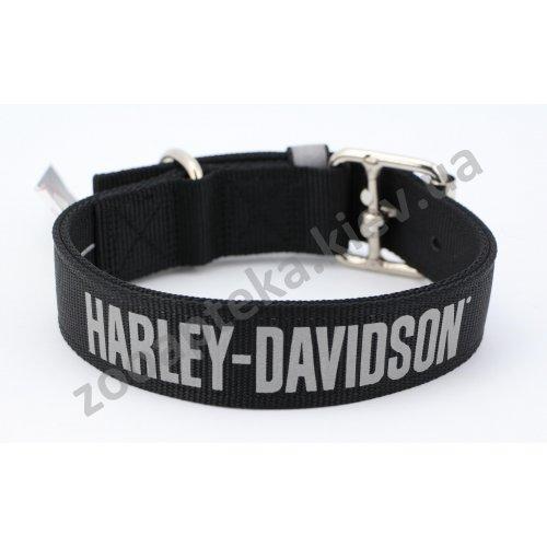 Coastal Collar Harley Davidson - ошейник Коастал двойной черный, светоотражающий