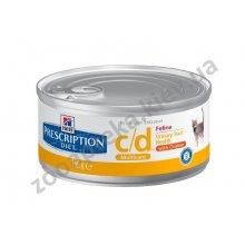 Hills Prescription Diet Feline с/d - Корм Хилс для кошек с заболеваниями мочевыводящих путей