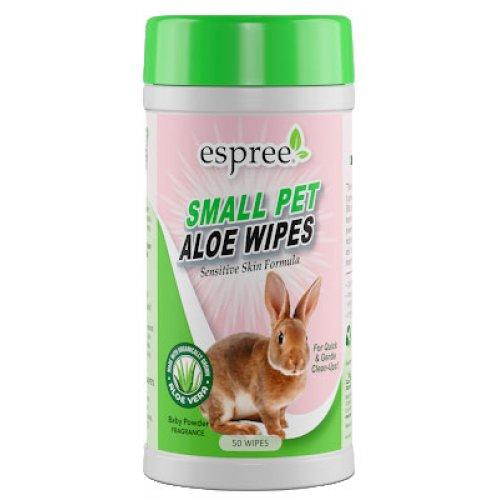 Espree Small Pet Aloe Wipes - влажные салфетки Эспри для груминга мелких животных