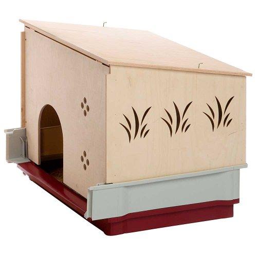 Ferplast Krolik Wood Extension - деревянный домик Ферпласт в клетку для кроликов