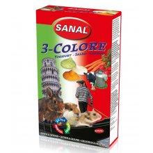 Sanal 3-Colore Drops - мультивитаминное лакомство Санал с разными вкусами для грызунов