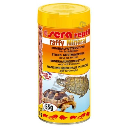 Sera Reptil Raffy Mineral - мінеральний корм Сера для черепах