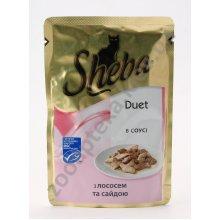 Sheba Duet - корм Шеба с лососем и сайдой в соусе