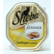 Sheba - паштет Шеба из домашней птицы для кошек