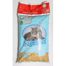 Super Cat - древесный наполнитель Супер Кет Фреш-Колор разноцветные гранулы, голубой