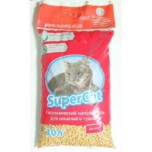 Super Cat - древесный наполнитель Супер Кет для кошачьего туалета красный