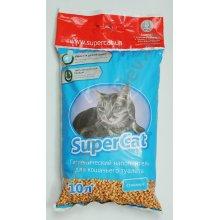 Super Cat - древесный наполнитель Супер Кет Стандарт для кошачьего туалета, синий