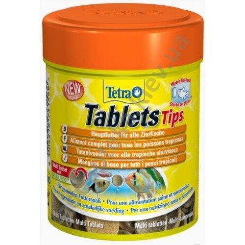 Tetra Tablets Tips - корм Тетра в виде таблеток для тропических видов рыб