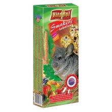 Vitapol Bakaliowy Smakers - корм Витапол для шиншилл с сухофруктами и орехами в колбе