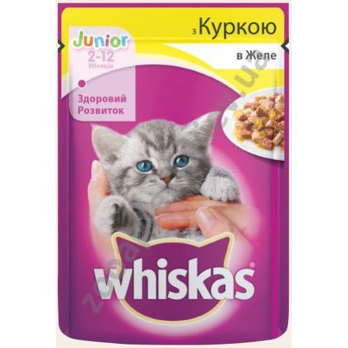Whiskas - корм Вискас с курицей в желе для котят