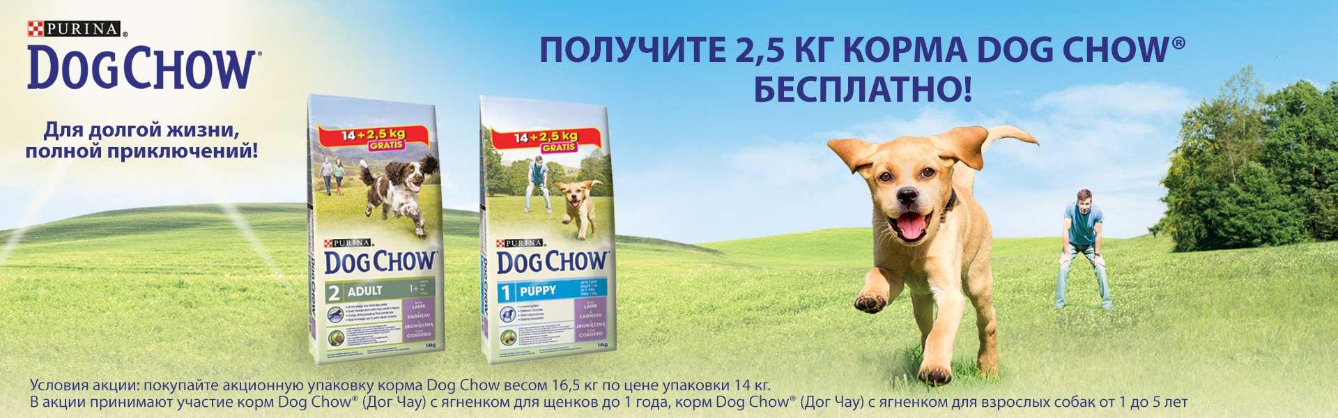 Dog Chow акция