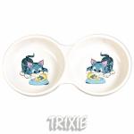 Trixie - миска двойная керамическая Трикси для кошек