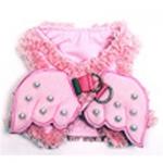 Monkey Daze Angel Wing harness - шлея Манки Дазе Крылья ангела розовая для собак (80401_09)
