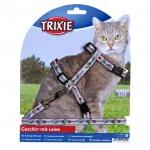 Trixie - шлейка Трикси нейлоновая с поводком для кошек