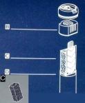 Hydor Cristal K 20 - фильтрующий материал Хайдор (губка) (12675)