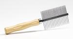 Pet Pro - расческа с деревянной ручкой для собак Пет Про двузубцовая (0661305)