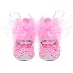 Monkey Daze Tennis shoes - розовые ботинки Манки Дазе с перьями для собак (51003_05)