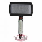 Trixie Soft Brush - пуходёрка пластиковая для собак Трикси