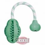 Trixie Dentafan - груша на канате Трикси (резина с мятой) 28 см