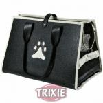 Trixie Nastasja - сумка-переноска Трикси для собак кожзам чёрно-кремовая (36411)