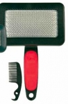 Trixie Soft Brush - пуходёрка с расчёской для собак Трикси