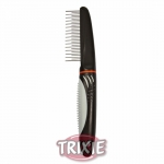 Trixie Coat Untangler Combi-Comb - расческа разнозубая с вращающимися зубцами для собак Трикси