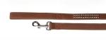 """Camon - Поводок для собак Камон """"Шик"""" с украшением, коричневый (DC075)"""