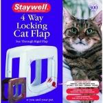 Staywell - дверцы Стейвел с механическим замком для кошек (st 300; 320)