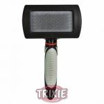 Trixie Soft Brush - пуходерка пластиковая для кошек Трикси