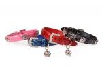Camon - ошейник Камон Питон с украшением, черный, синий, розовый, красный (DC070; DC071; DC072; DC073)