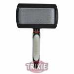 Trixie Soft Brush - пуходёрка пластиковая для кошек Трикси